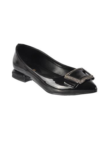 Mhd Mhd 222 Tokalı Günlük Kadın Ayakkabı Siyah